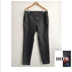 STYLE & CO Velvet Polka Dot Curvy Skinny Jeans
